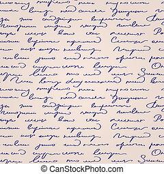 Seamless abstract handwritten text