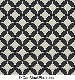 Seamless abstract intersecting circle shape pattern.