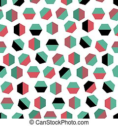 seamless abstract pattern background with colorful geometry