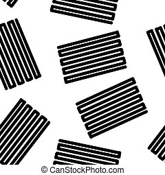 Seamless abstract pattern. Black zagzagi lines on a white background.