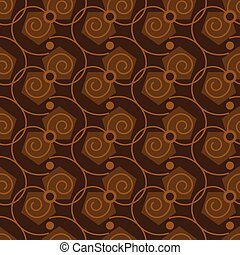 Seamless abstract pattern in coffee color.