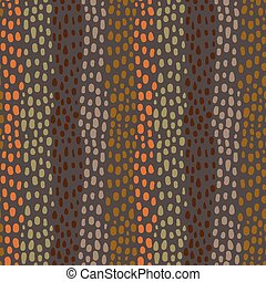 Seamless abstract pattern in earth colors with hand drawnd rounded shapes for textile, clothing and backgrounds