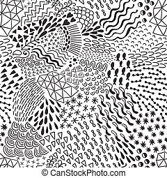 Seamless abstract pattern in retro memphis style.