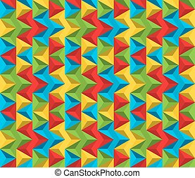 Seamless colorful abstract pattern made of triangles in vivid colors