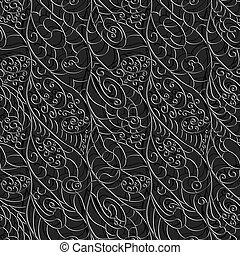Seamless abstract pattern of intertwined wavy lines - Vector...