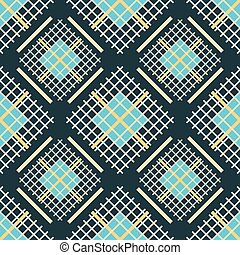 Seamless abstract pattern of square colored grilles