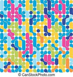 Seamless abstract tehno pattern. Stylish geometric background.