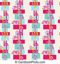 Seamless abstract pattern to the day of Saint Valentine