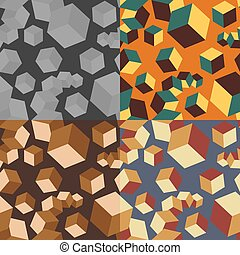 Seamless abstract pattern with cubes