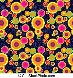 Seamless abstract pattern with different concentric circles
