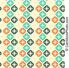 Seamless abstract pattern with flowers