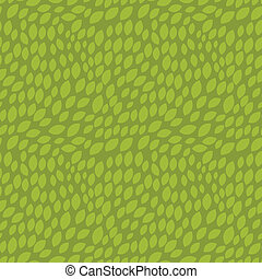 Seamless abstract pattern with stylized green leaves.