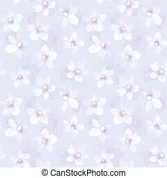 Seamless abstract pink background with anemones