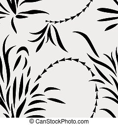 Seamless abstract plants
