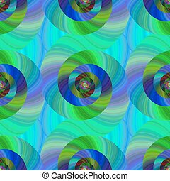 Seamless abstract psychedelic spiral pattern background