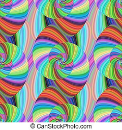 Seamless abstract psychedelic spiral pattern