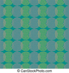 Seamless abstract retro geometric pattern. Blended circle and ovals in vertical layout.