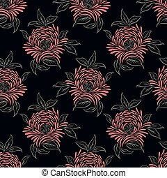 Seamless abstract rose flower pattern design