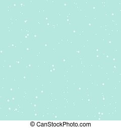Seamless abstract snow pattern vector, blue background