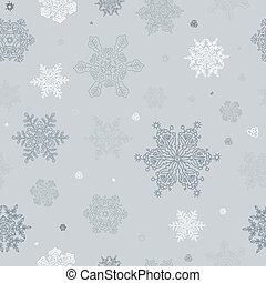 Seamless Abstract Snowflake Background. Vector, EPS8