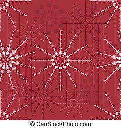 seamless abstract snowflake pattern background