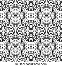 Seamless abstract textured funky pattern