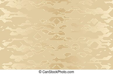 Seamless abstract vector futuristic golden cloth techno ...