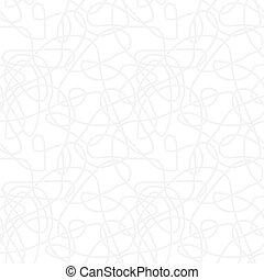 Seamless abstract vector pattern - repeat curved lines light monochrome background