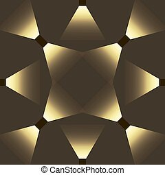 Seamless abstract vector pattern with light effect