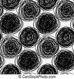 Seamless abstract vector scribble