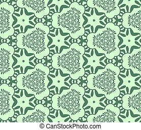 Seamless abstract vegetable wall-paper, green