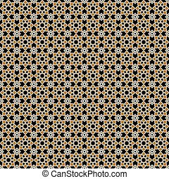 Seamless Abstract Vintage Flower Pattern Background