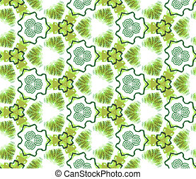 Seamless abstract wall-paper, green