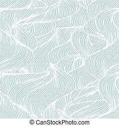 Seamless abstract wave hand-drawn pattern.