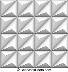 seamless, abstract, witte achtergrond, geometrisch