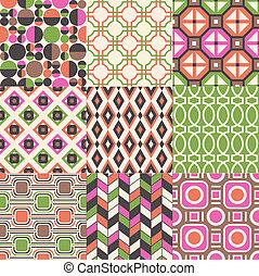 seamless, abstraktní, geometrický charakter