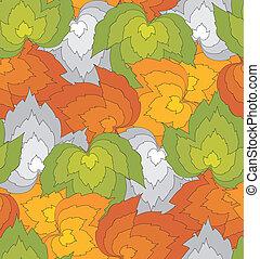 seamless, abstratos, folhas, fundo