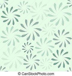 seamless, abstratos, folhas, padrão