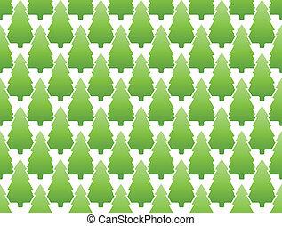seamless, achtergrond, dennenboom