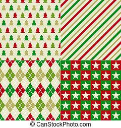 seamless, achtergrond, kerstmis