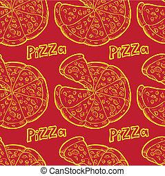 seamless, achtergrond, pizza