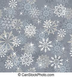 seamless, achtergrond, snowflakes