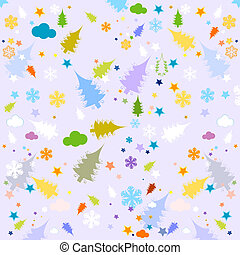 seamless, achtergrond, winter