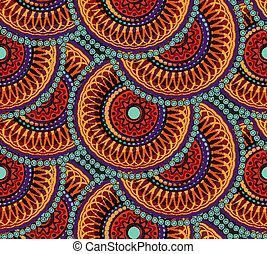 seamless, africano, padrão geométrico