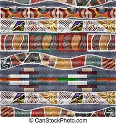 seamless, africano, texture., étnico