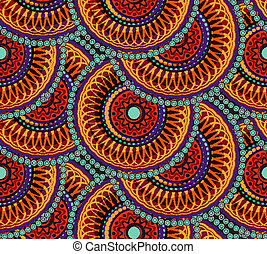 seamless, afrikanisch, geometrisches muster