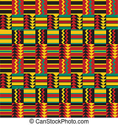 seamless, afrikansk, mönster