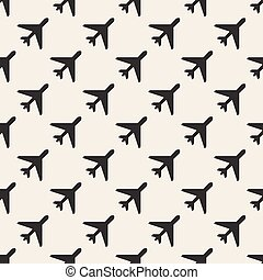 seamless airplane pattern background