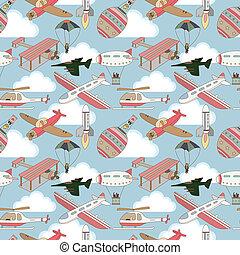 seamless airplane pattern  - seamless airplane pattern