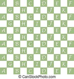 Seamless alphabet pattern